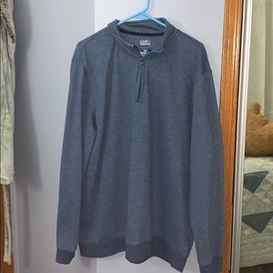 Mens blue zip up sweater